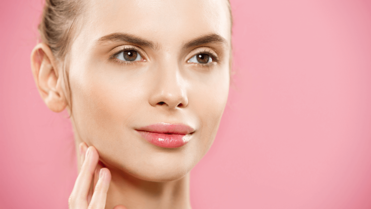 Woman with healthy glowing skin